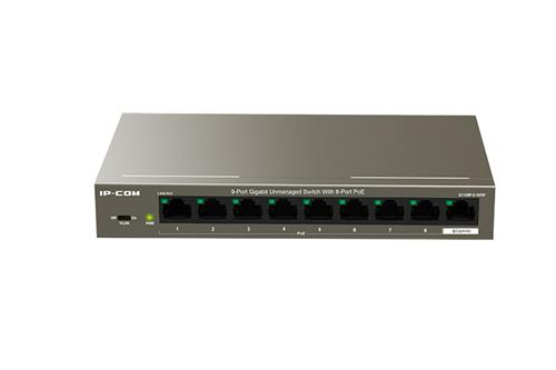 Ip Com Switch 9 Porte Gigabit Desktop con 8 porte PoE+